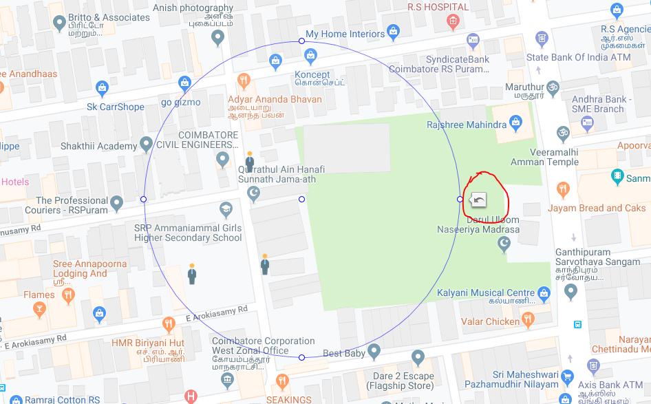 how to remove undo icon while drag circle radius control