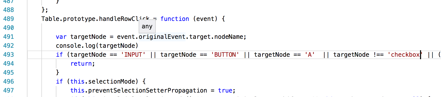 TurboTable: When selectionMode=multiple, can't select by