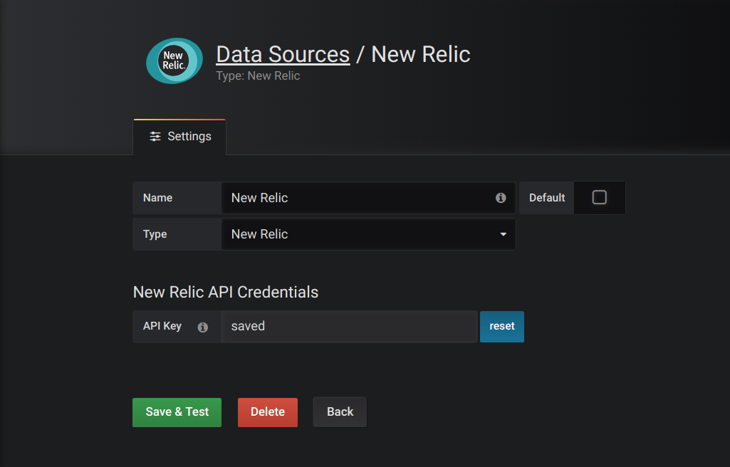 Data Source config
