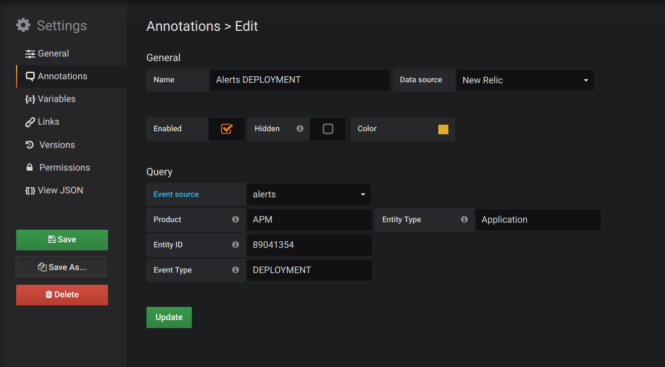 Annotations editor (alerts)