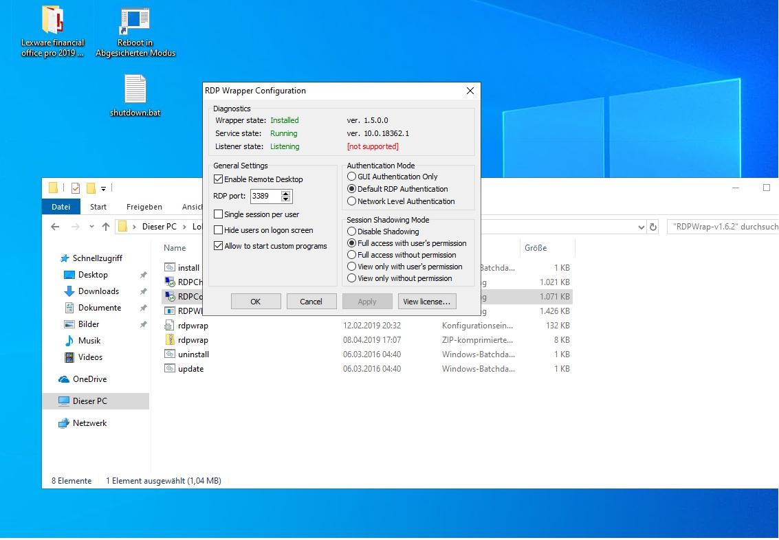 Rdpwrap not working Windows 10 1903 · Issue #715 · stascorp/rdpwrap