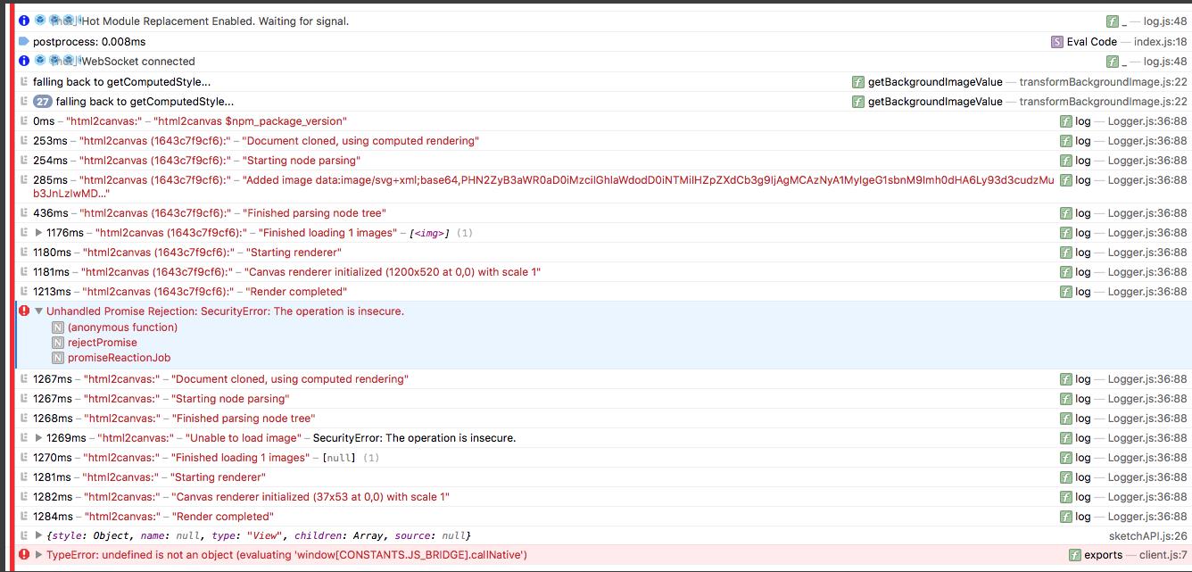 SecurityError when using Data URI background-image in Safari