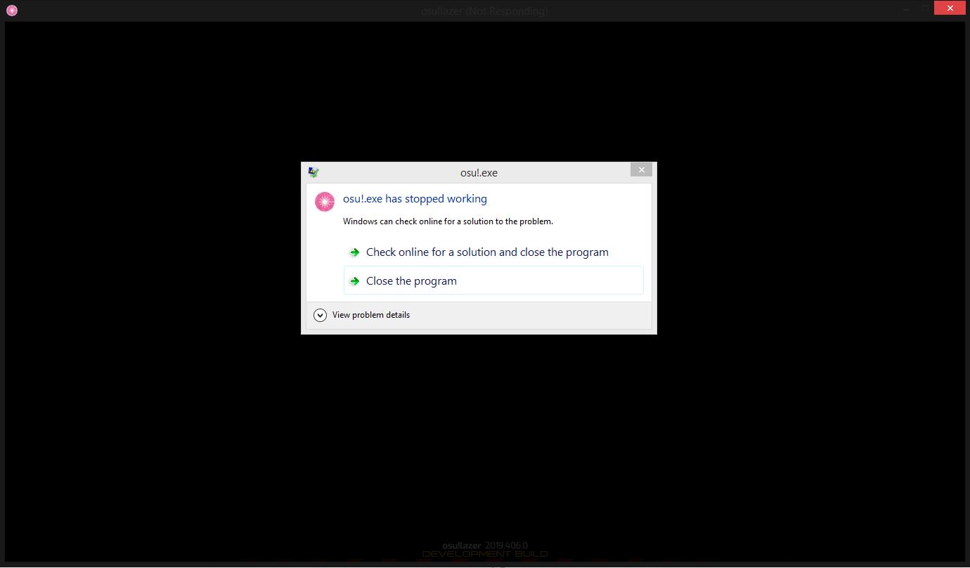 osu!lazer Crashing on Startup · Issue #4615 · ppy/osu · GitHub