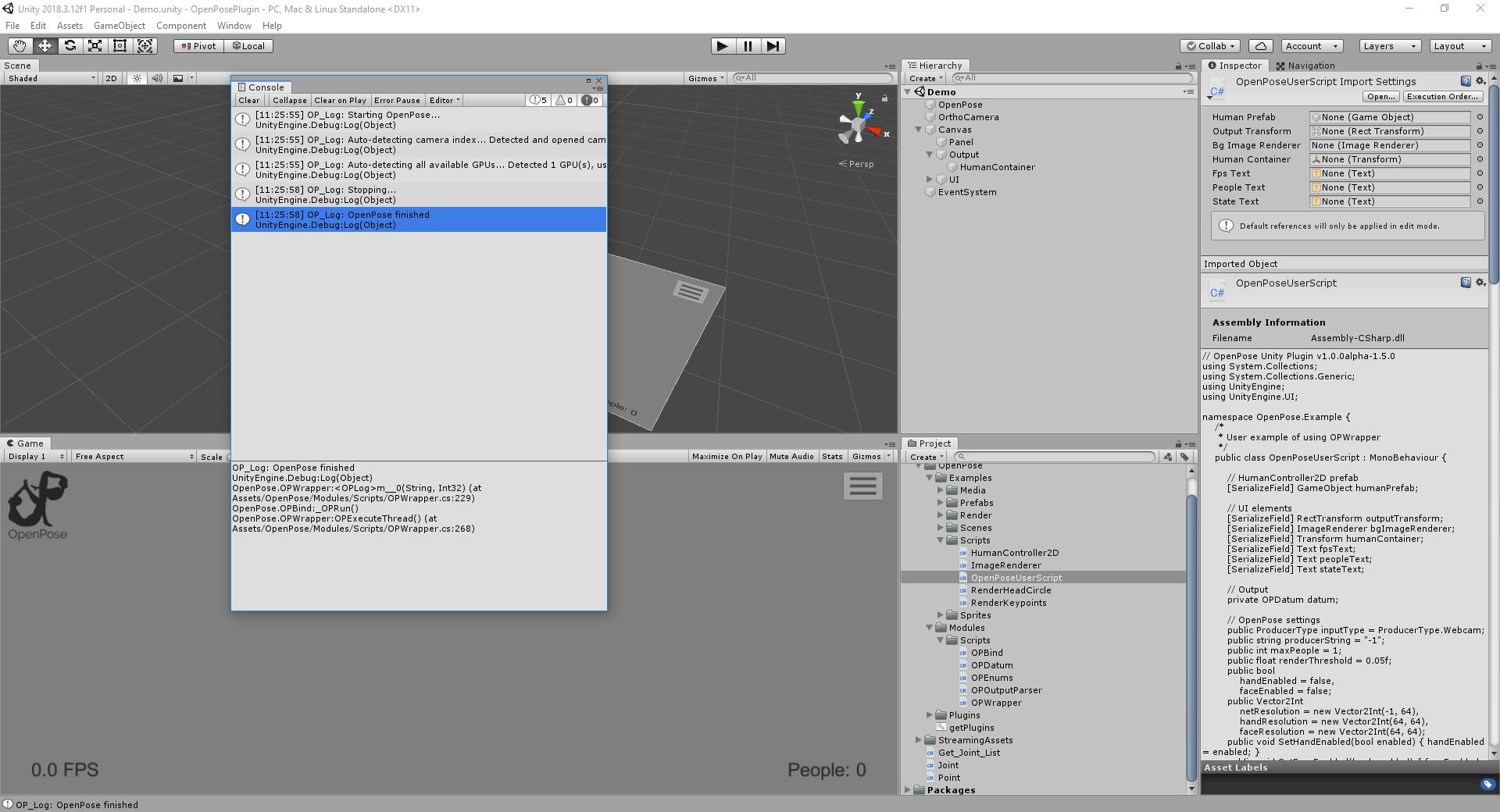 Run unity plugin on cpu ? · Issue #26 · CMU-Perceptual