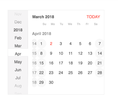 Default theme]: Week number clips the last month column · Issue #101