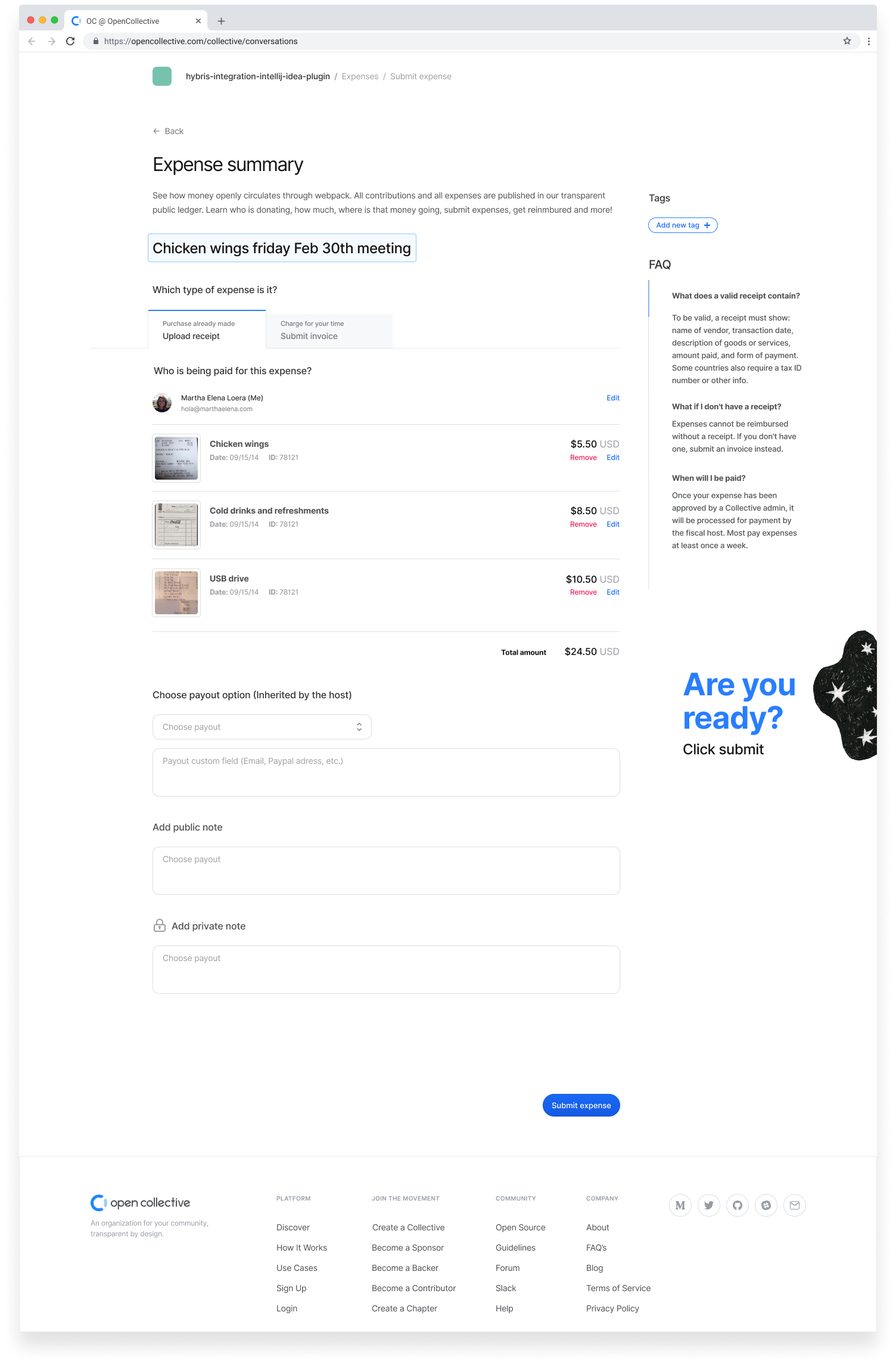 06 → Expense receipt - Summary (Receipt)