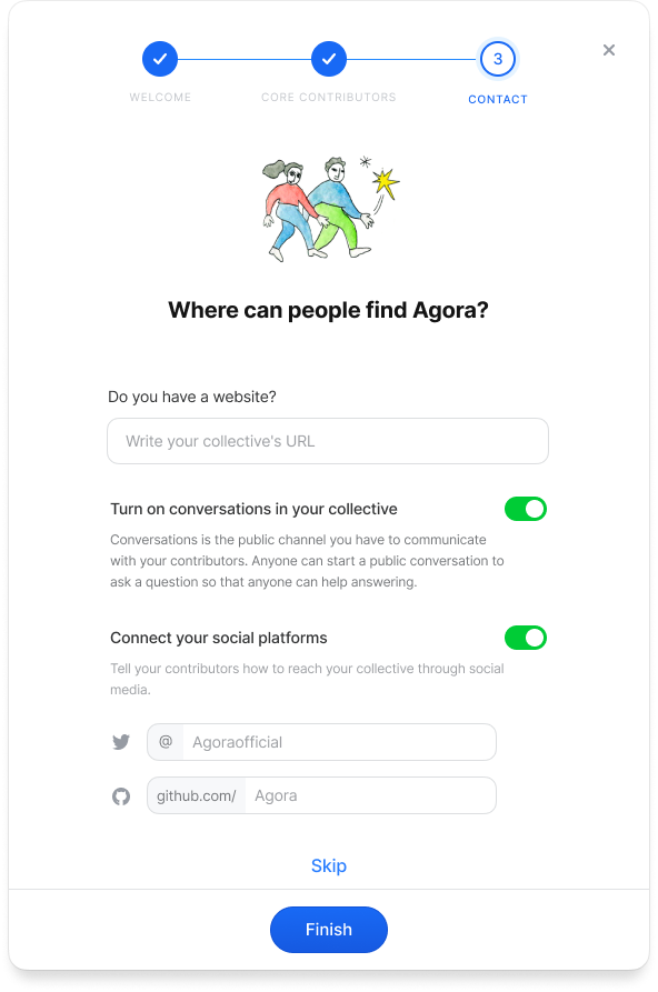 Onboarding - Where can people find Collective