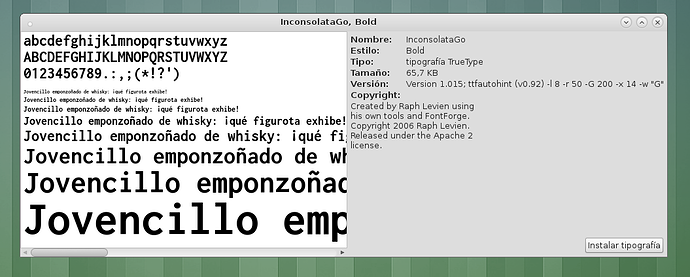 mate-font-viewer is showing a black box instead of fonts