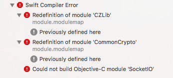 Missing required modules: 'CommonCrypto', 'zlib' · Issue