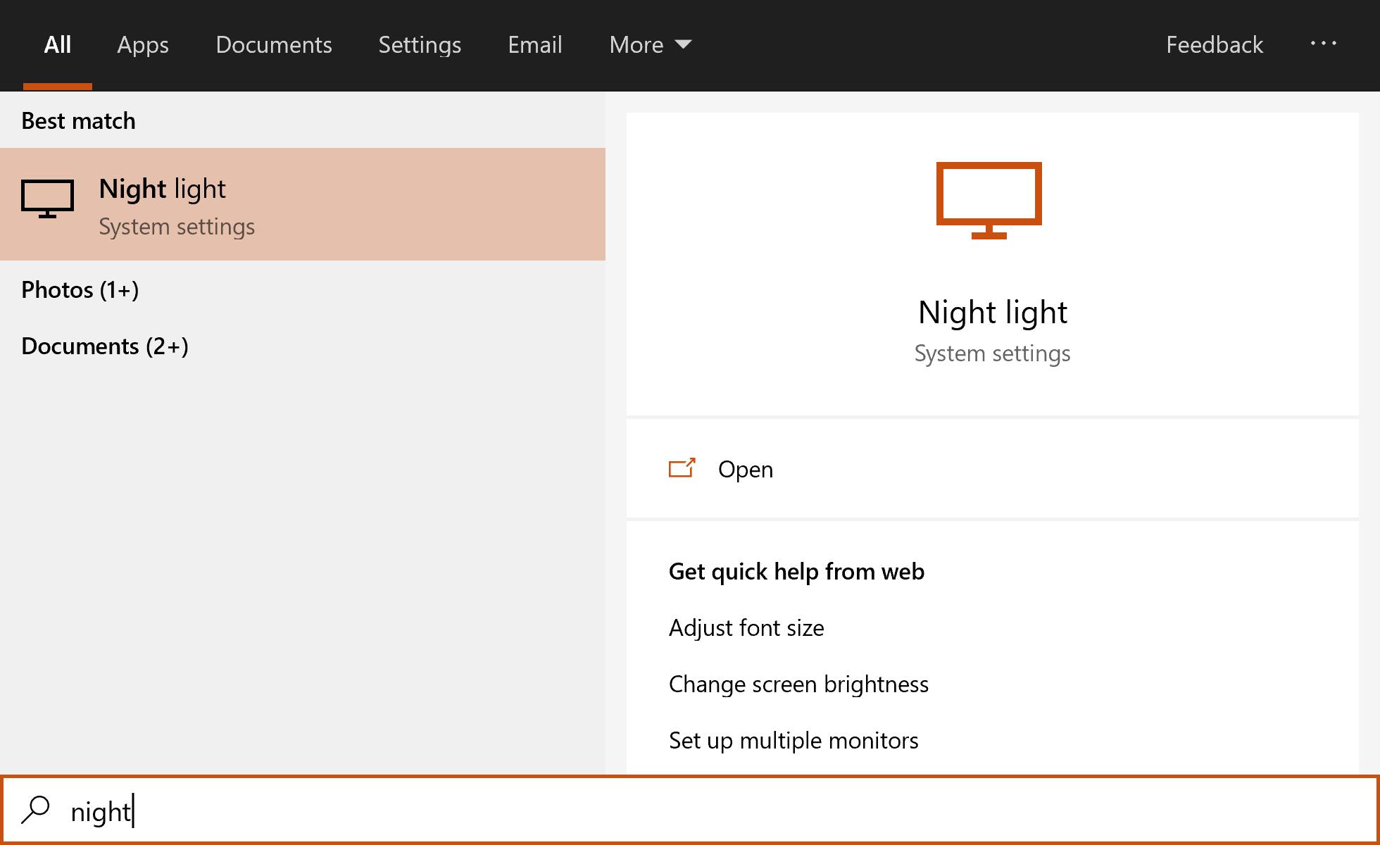 Windows 10 Operating System Setting Night Light Issue 168 Oliverschwendener Ueli Github