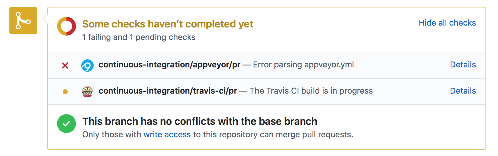 CI: continuous-integration/appveyor/pr — Error parsing