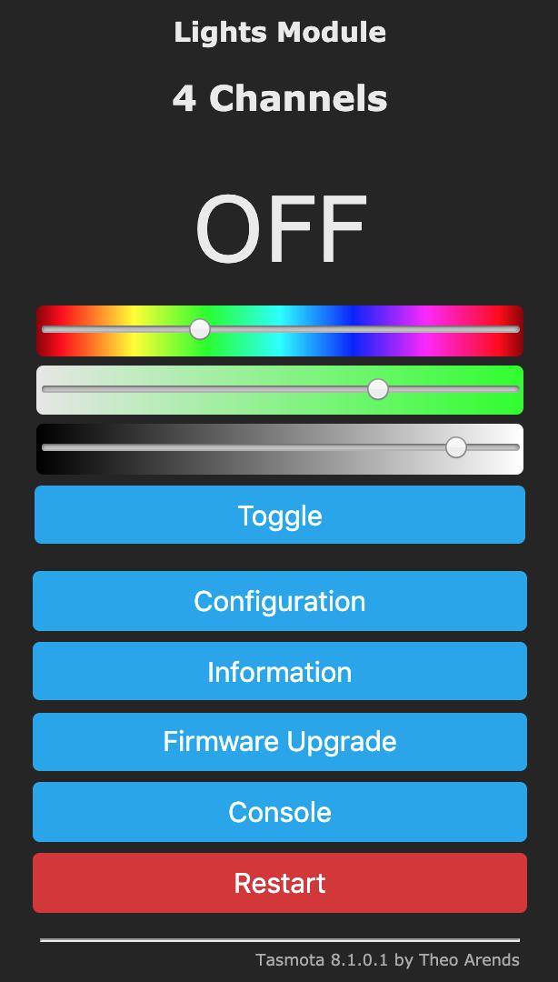 RGBW using RGB and White Split