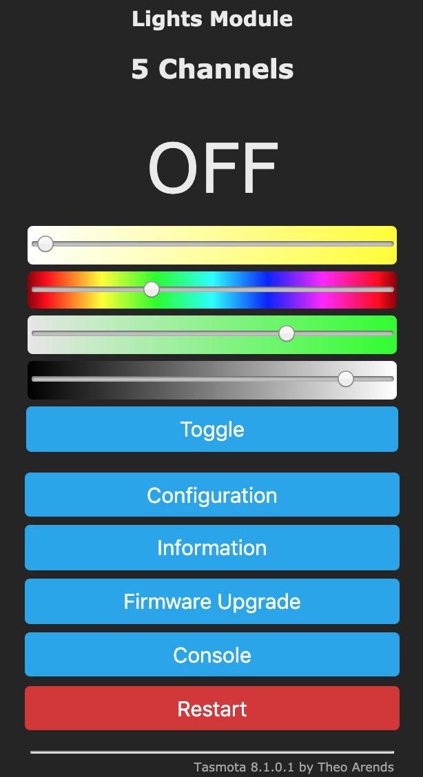 RGBCCT using RGB and White Split