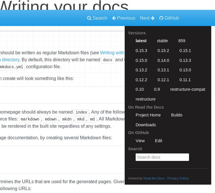 Screenshot_2019-03-19 Writing Your Docs - MkDocs