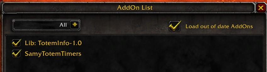 AddOn List