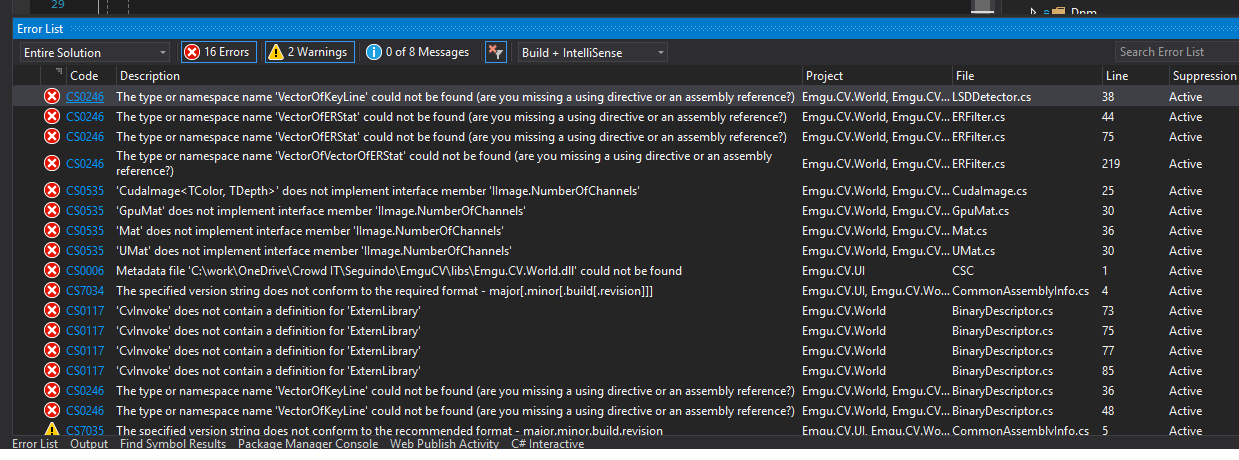 Many build errors · Issue #81 · emgucv/emgucv · GitHub