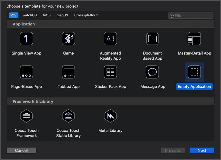 Github Sleeveios Empty Application Xcode Template An Empty