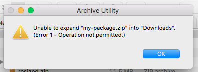 Can't open zip on Mac OS · Issue #106 · sindresorhus/gulp