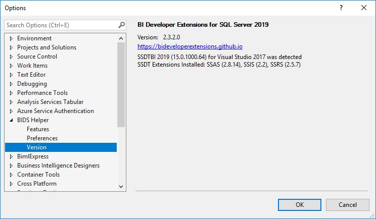 BIDeveloperExtensions ( BI Developer Extensions )