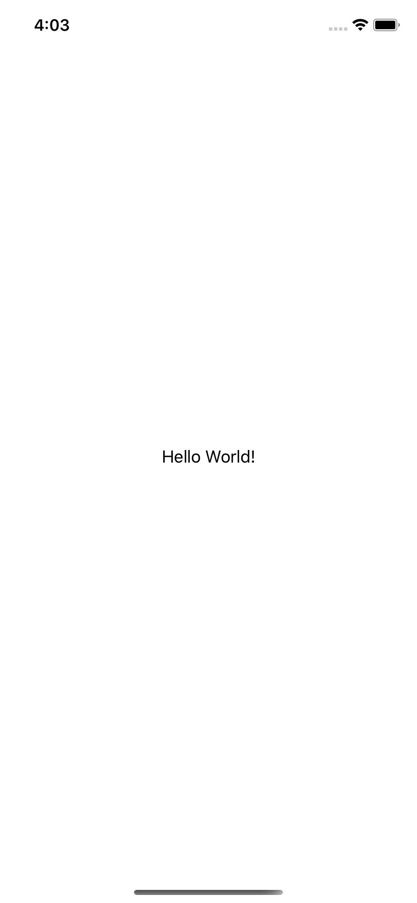 HelloWorld iOS