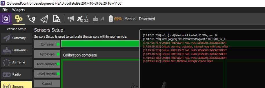 Pixracer magnetometer preflight error · Issue #8098 · PX4