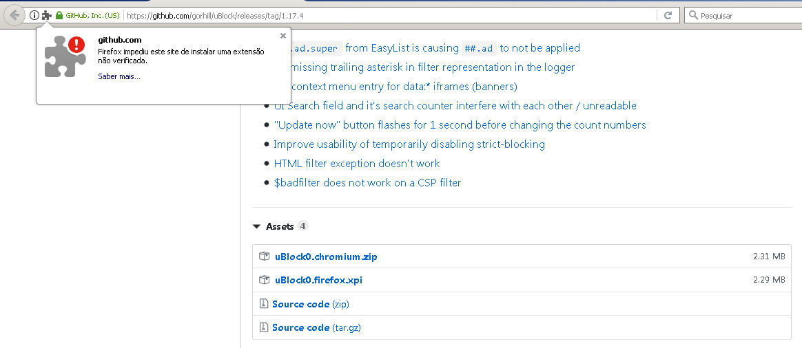 Unable to install unsigned addon on Firefox ESR with configs changed
