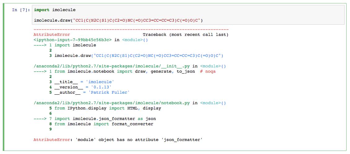ttributeError: 'module' object has no attribute