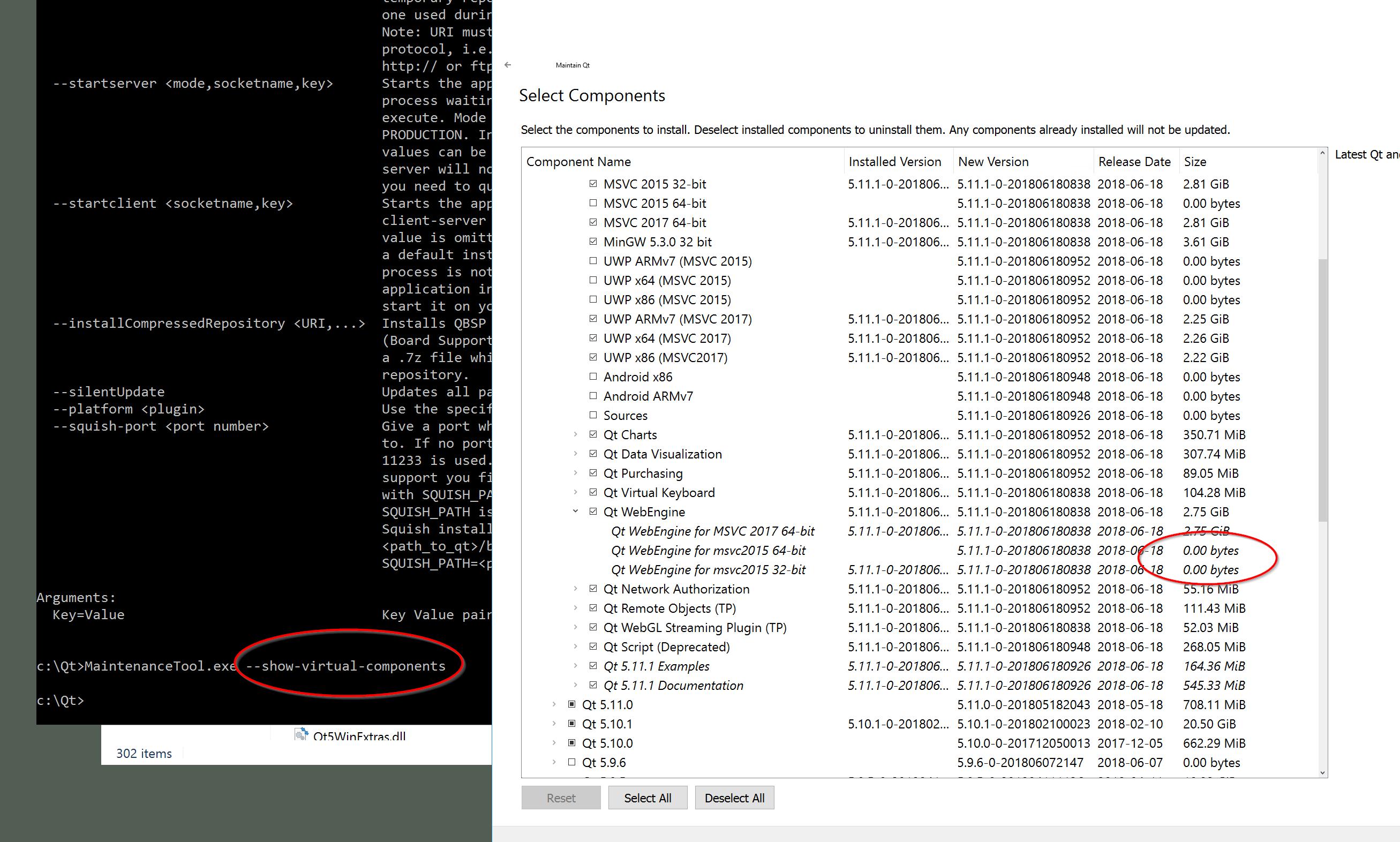 Qt 5.11.1 32 bits] QtWebEngine not found in MSVC 2017 worker · Issue