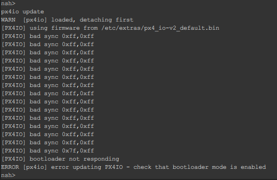 px4io can't autostart and can't update · Issue #12308 · PX4
