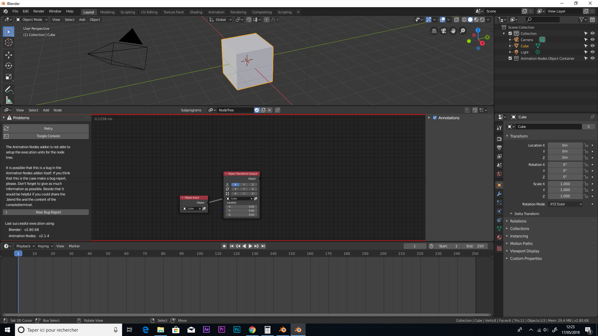 AN 2 1 4 installed but nothing happen blender 2 8 · Issue
