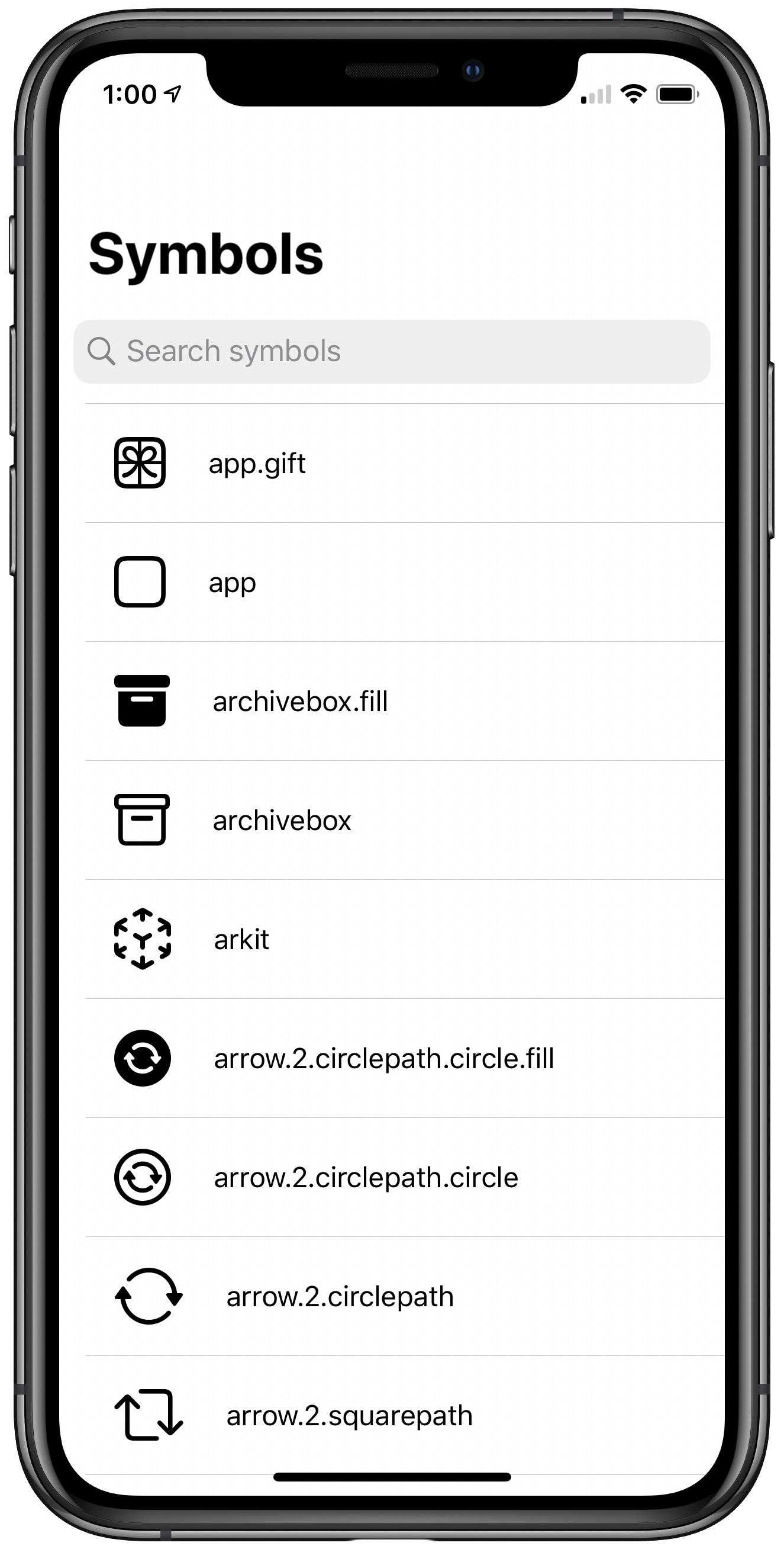 Screenshot of project