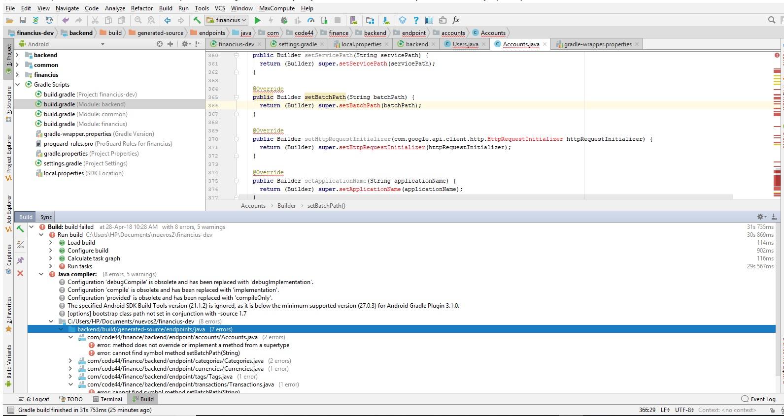 Java I Get Errors When Compiling Error Cannot Find Symbol Method