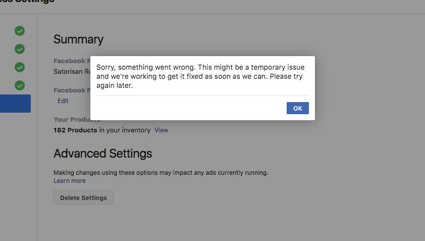 Facebook Ads Extension error -