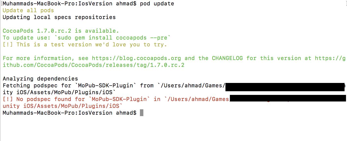 Mopub Unity SDK for iOS Build · Issue #62 · mopub/mopub-unity-sdk