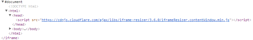 Resizing iframe with injected iframeResizer contentWindow min js