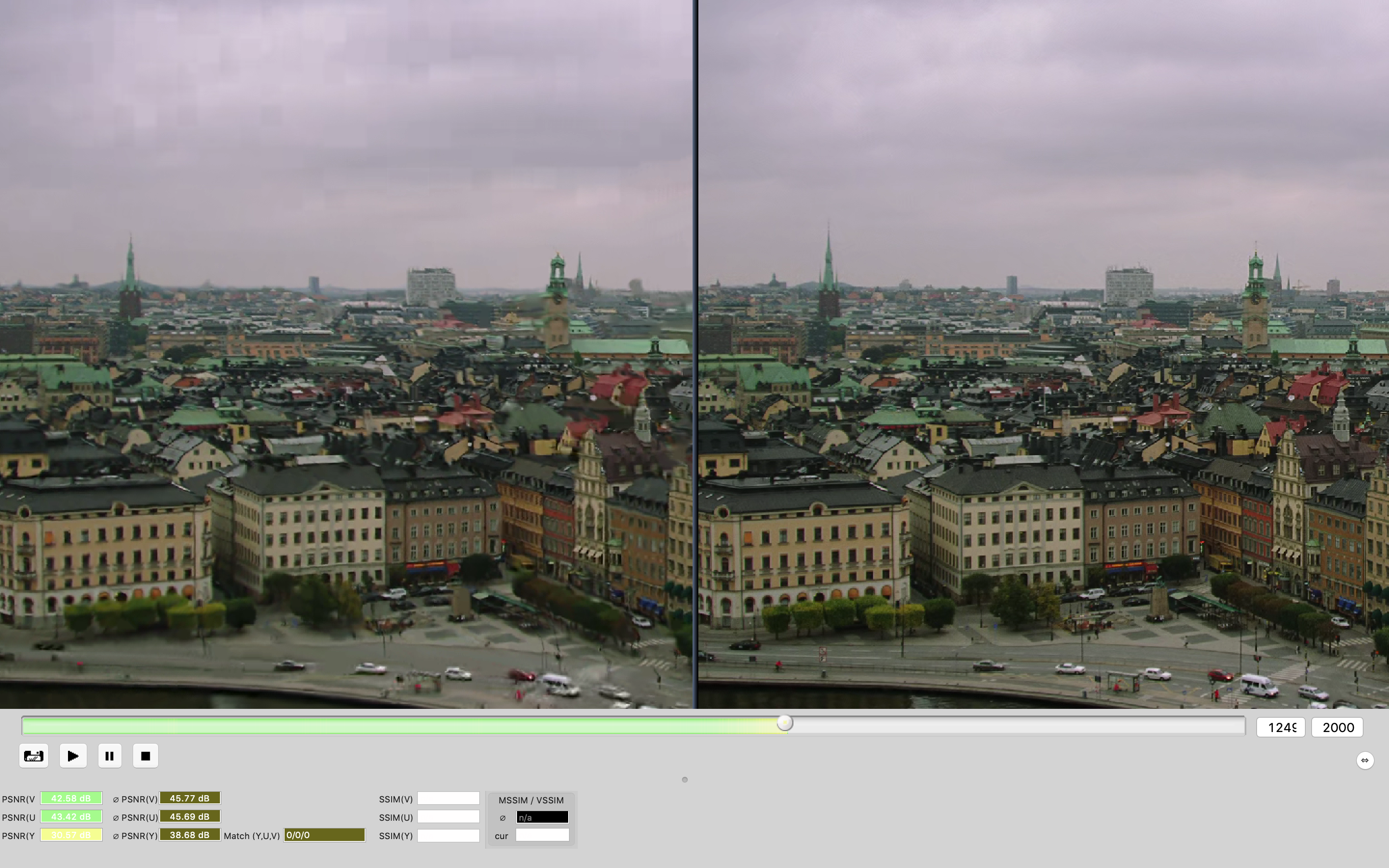 when encoding sequence old_town_cross 1080p 4 times at same time