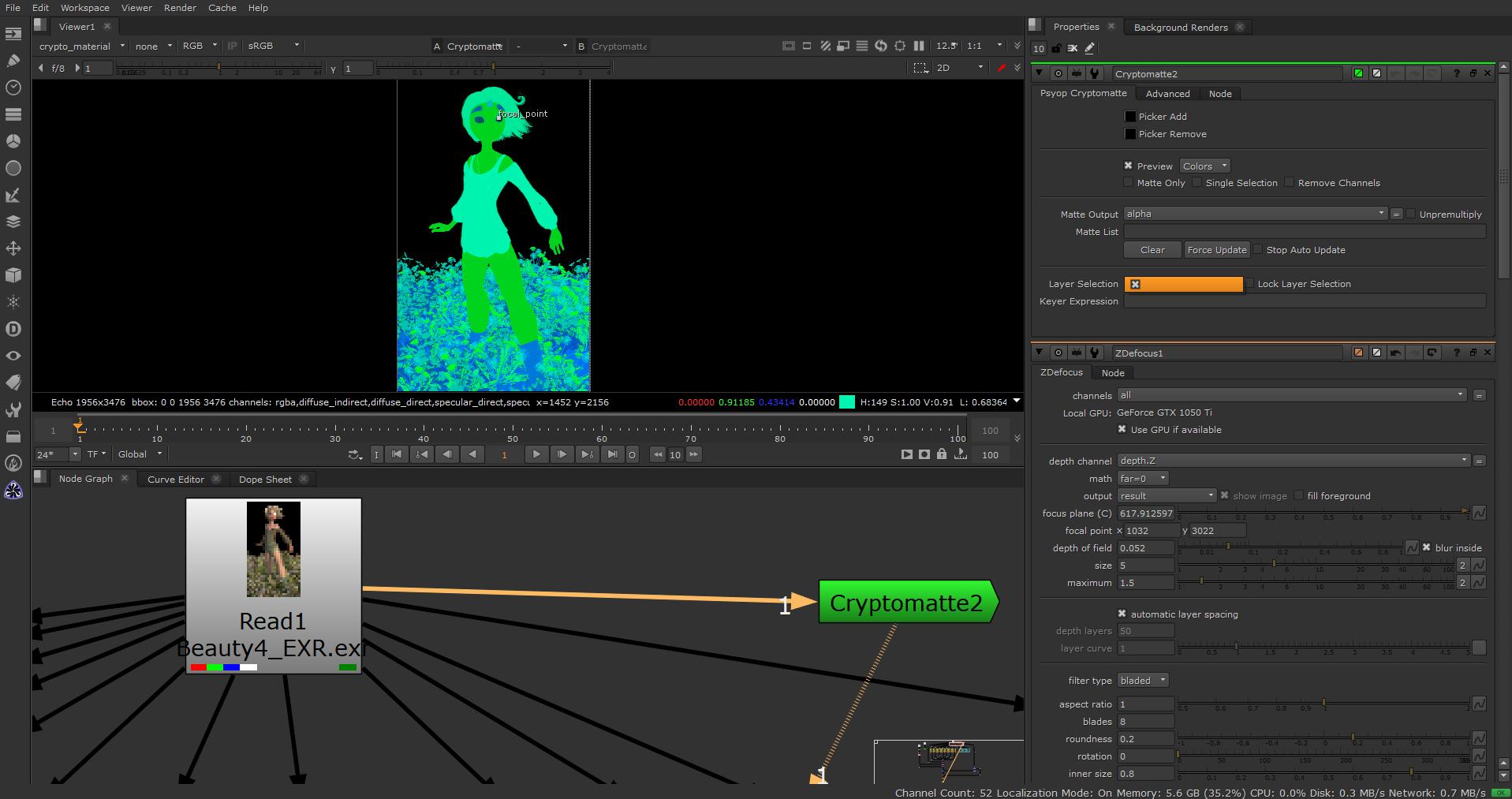 Arnold Maya to Nuke - Cryptomatte layer selection not