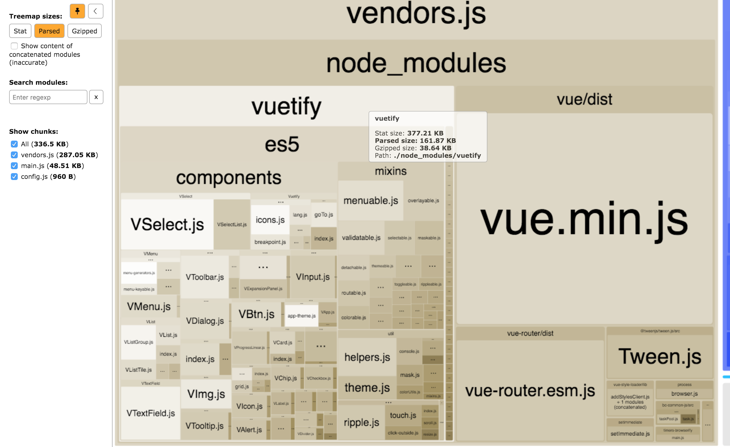 Build is bigger than a-la-carte · Issue #26 · vuetifyjs/vuetify