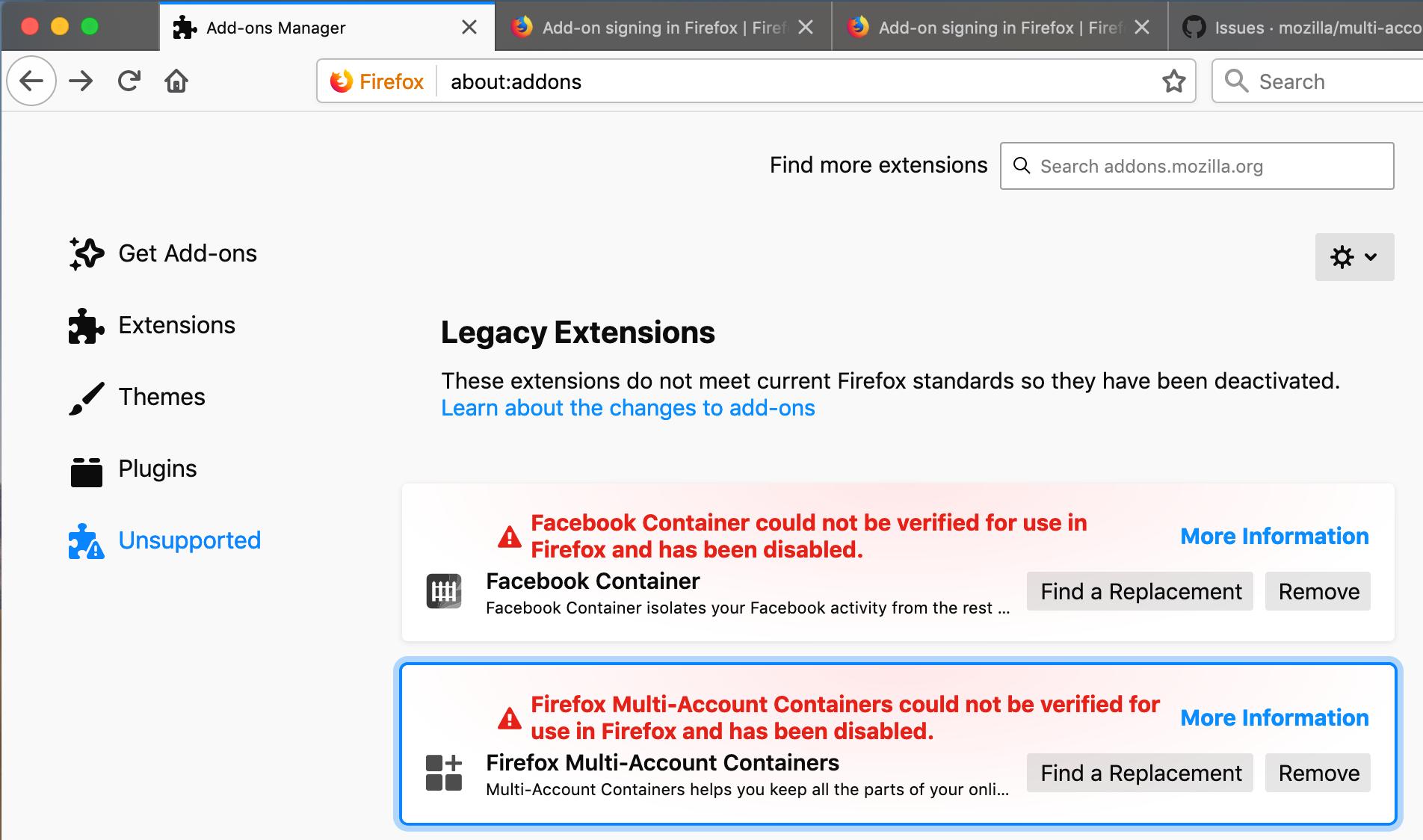 Facebook imageer firefox addon updates