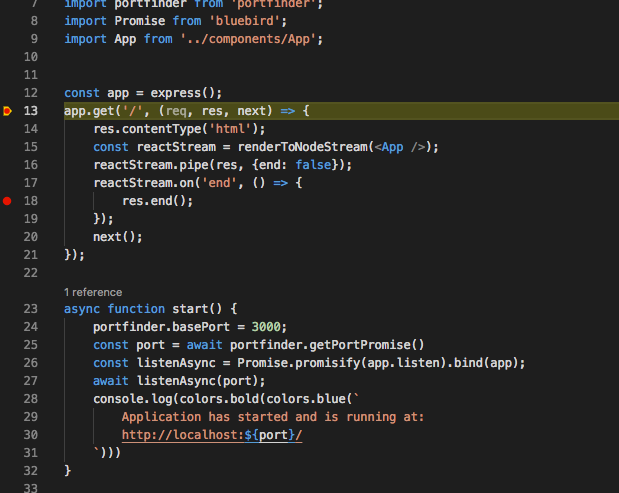 Debugging with sourcemap (babel), breakpoints move and can't