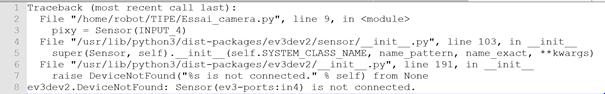 Pixy Camera for LEGO non recognized by ev3dev2 · Issue #640 · ev3dev