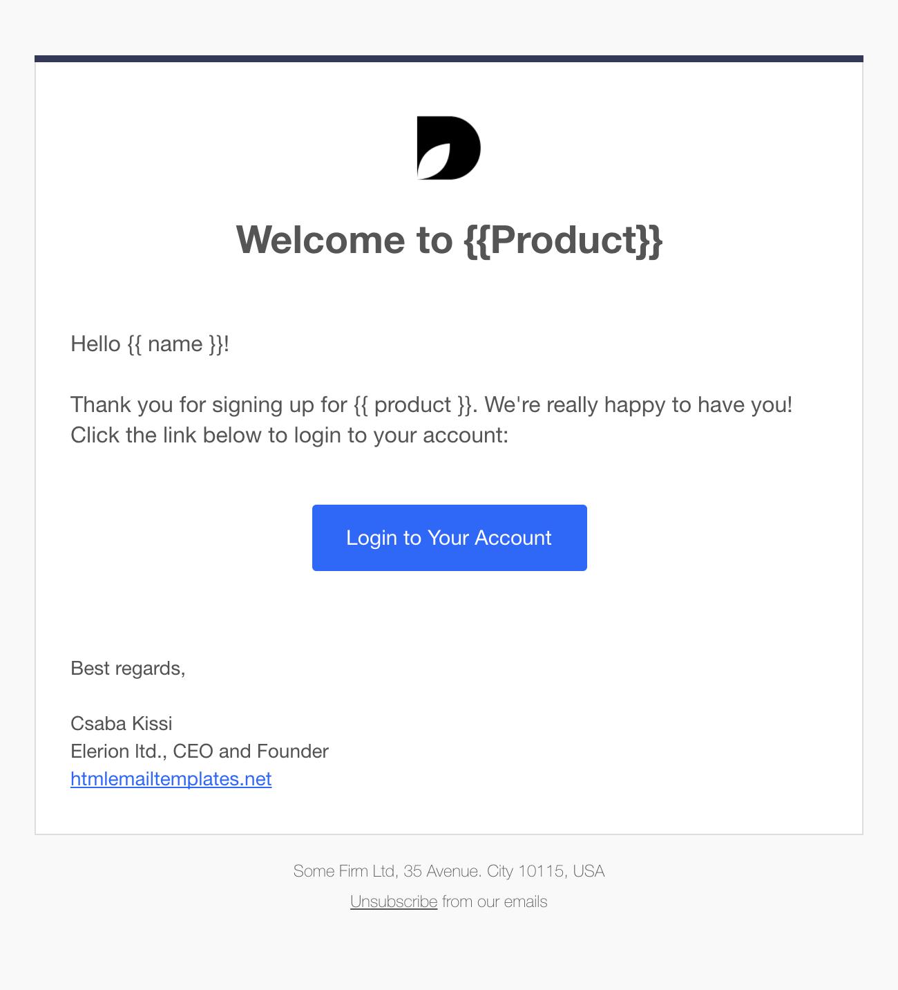 github ckissi responsive html email templates. Black Bedroom Furniture Sets. Home Design Ideas