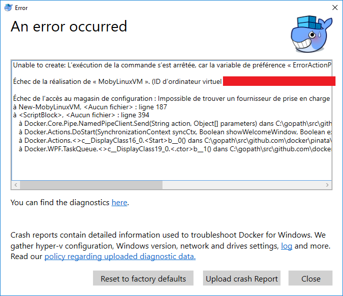 Docker won't start on win10 1803 · Issue #1927 · docker/for