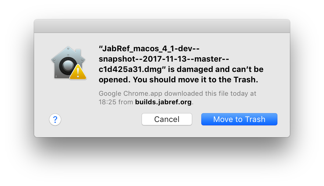 Mac OS X dmg is corrupted for the nightly builds · Issue #3440