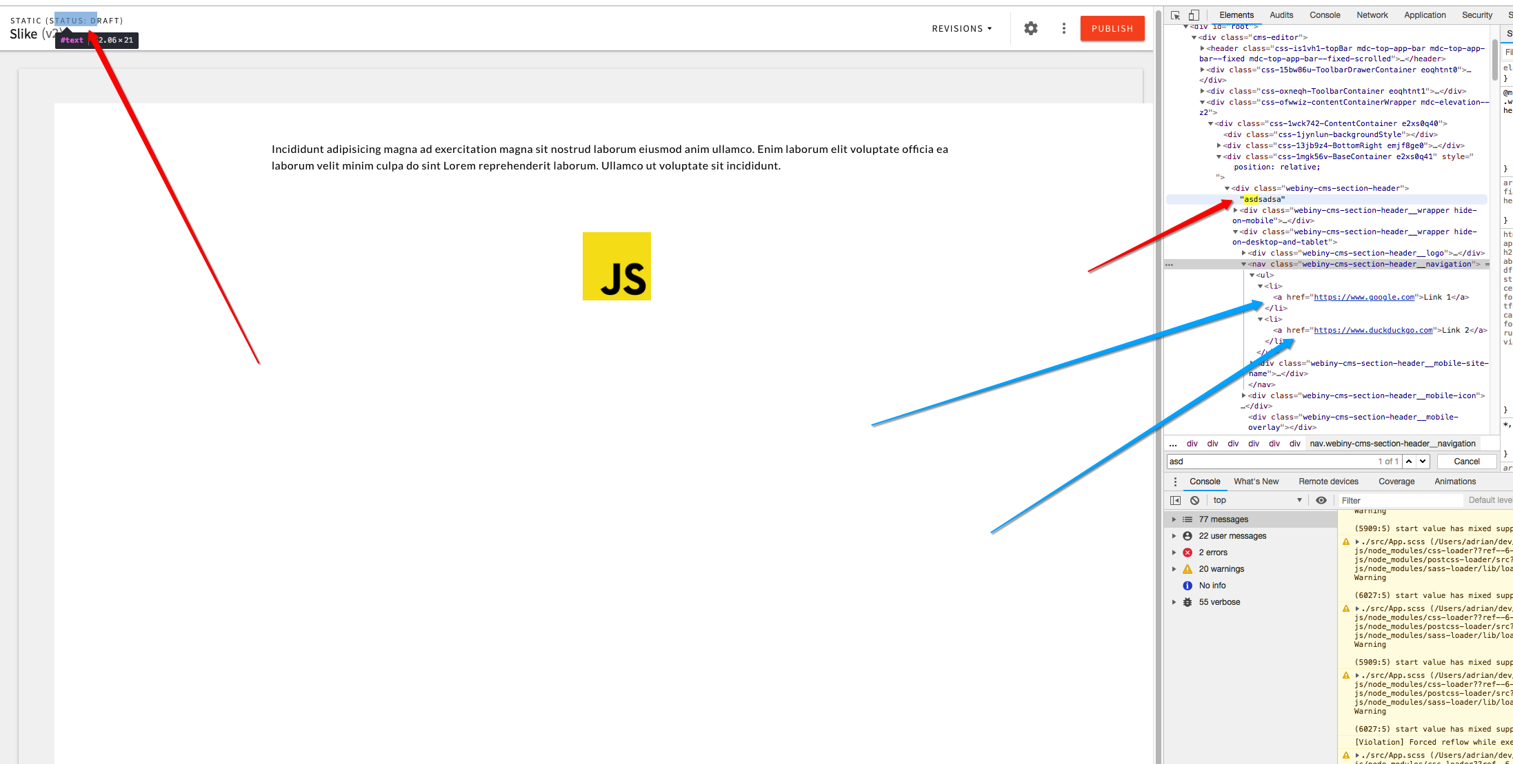 Fix CSS positioning / visibility issues with header in