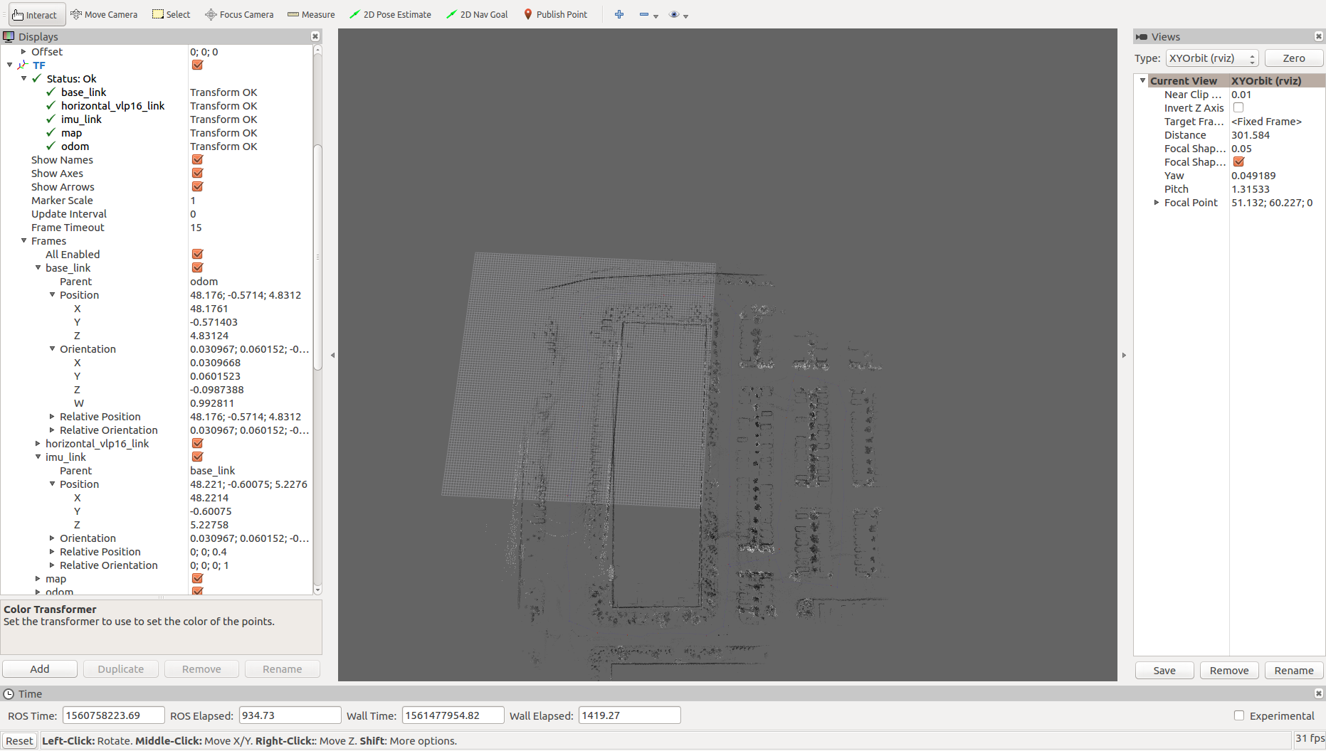 tuning 3D cartographer slam in my own bag with VLP -16