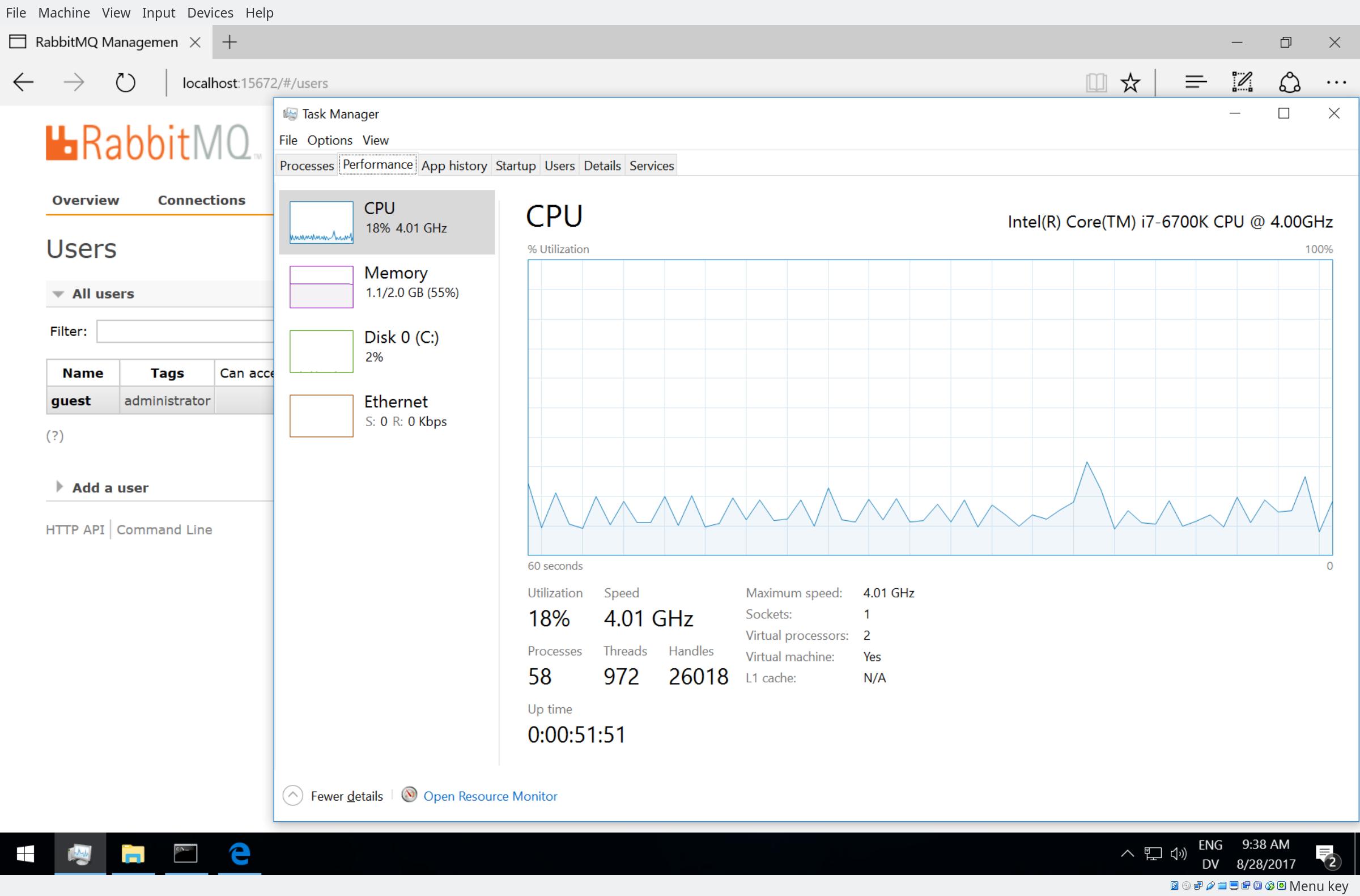Windows: RabbitMQ spawns wmic periodically and wmiprvse