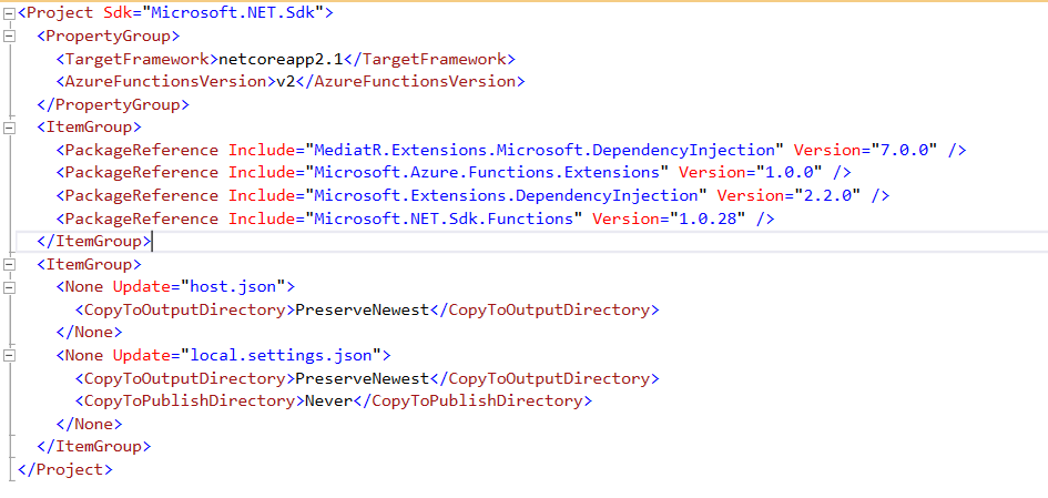 Adding Nugget package in Azure Functions 2 shows error