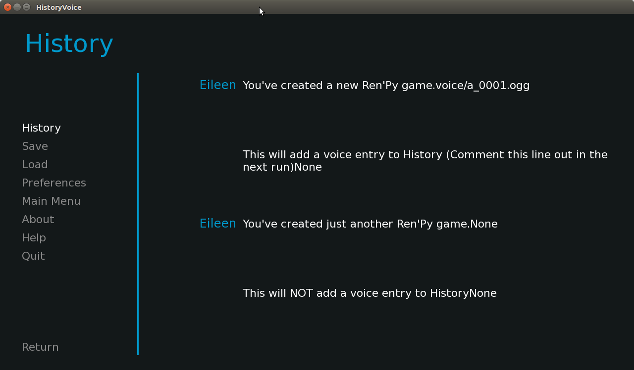 renpy say(interact=False) doesn't record voice to history