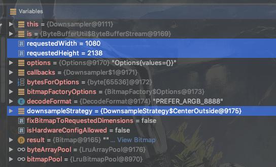 Default requestOptions of ViewTarget